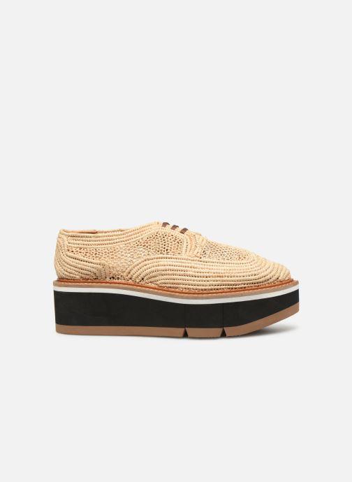 Chaussures à lacets Clergerie Acajou Beige vue derrière