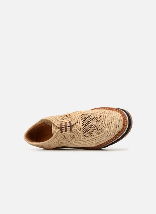 Chaussures à lacets Clergerie Acajou Beige vue haut