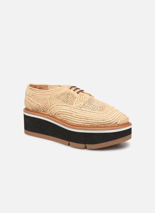 Chaussures à lacets Clergerie Acajou Beige vue détail/paire