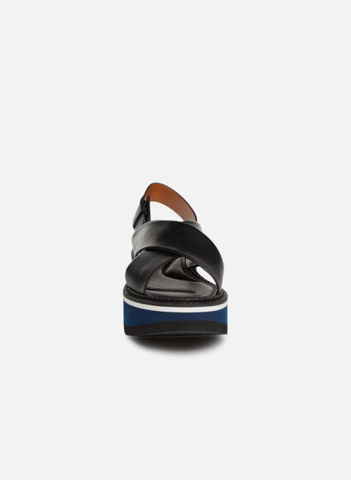 Sandales et nu-pieds Clergerie Anae Noir vue portées chaussures