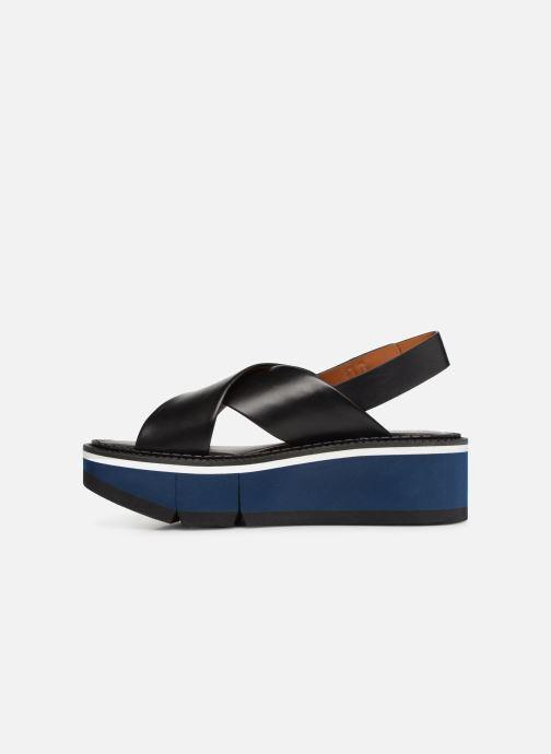 Sandales et nu-pieds Clergerie Anae Noir vue face