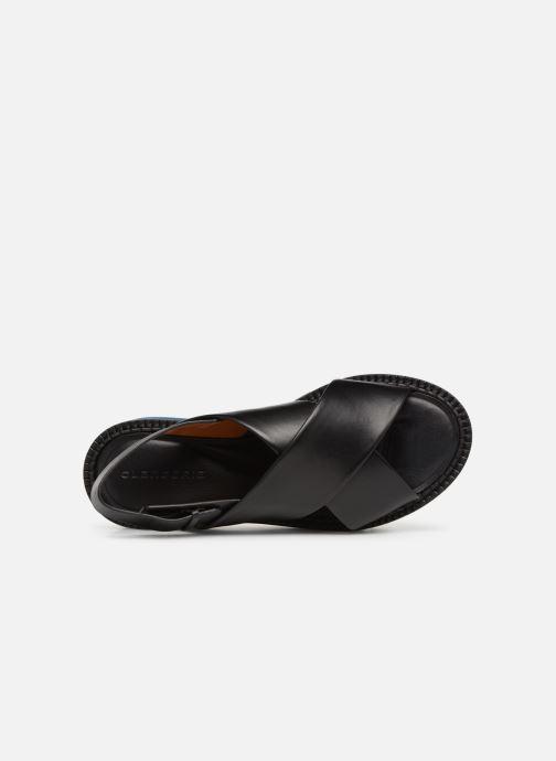 Sandales et nu-pieds Clergerie Anae Noir vue gauche