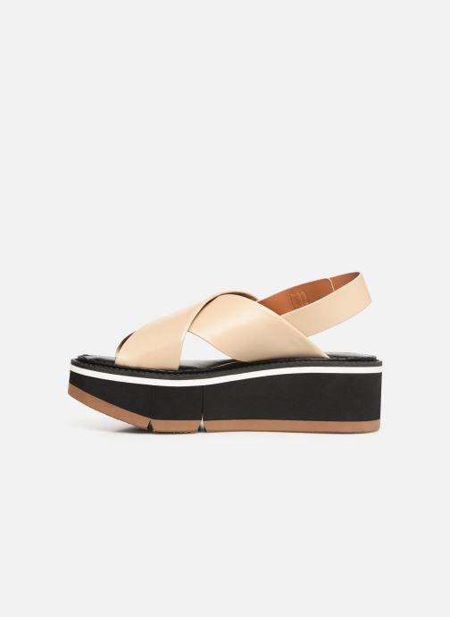 Sandales et nu-pieds Clergerie Anae Beige vue face