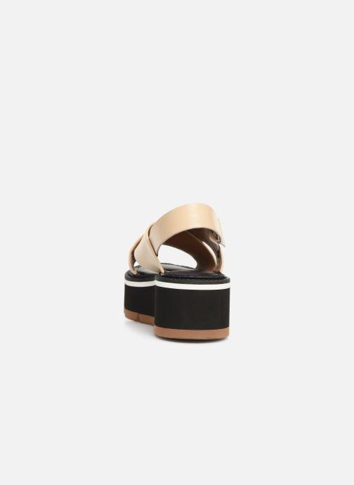 Sandales et nu-pieds Clergerie Anae Beige vue droite