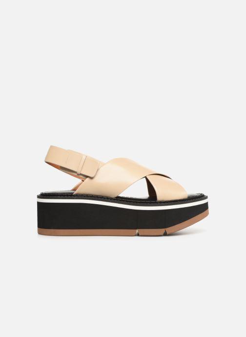 Sandales et nu-pieds Clergerie Anae Beige vue derrière