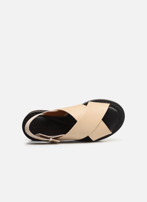Sandales et nu-pieds Clergerie Anae Beige vue gauche