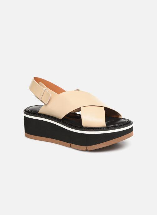 Sandales et nu-pieds Clergerie Anae Beige vue détail/paire