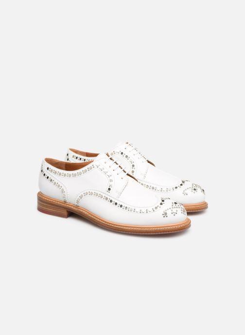 Chaussures à lacets Clergerie Rocker Blanc vue 3/4