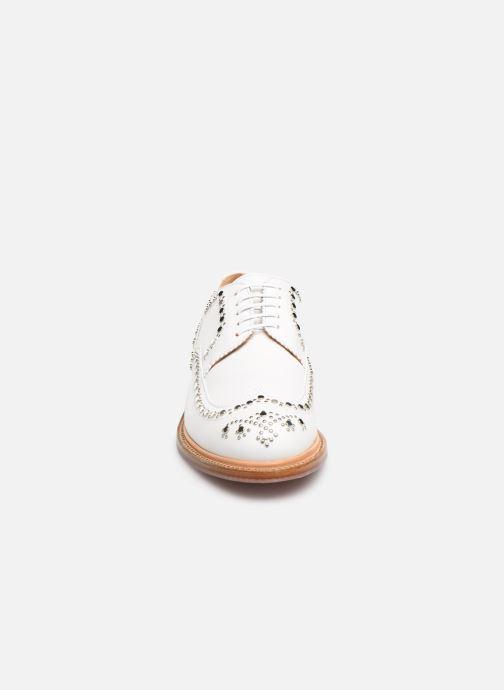 Chaussures à lacets Clergerie Rocker Blanc vue portées chaussures