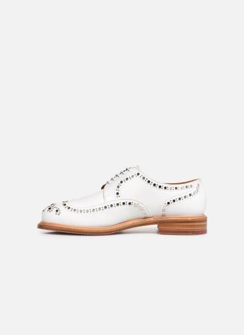 Chaussures à lacets Clergerie Rocker Blanc vue face
