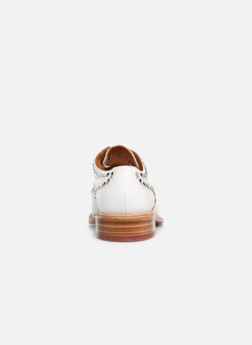 Scarpe con lacci Clergerie Rocker Bianco immagine destra