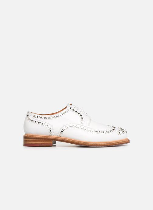 Chaussures à lacets Clergerie Rocker Blanc vue derrière