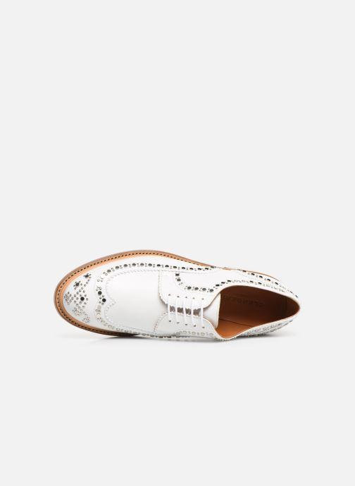 Chaussures à lacets Clergerie Rocker Blanc vue gauche