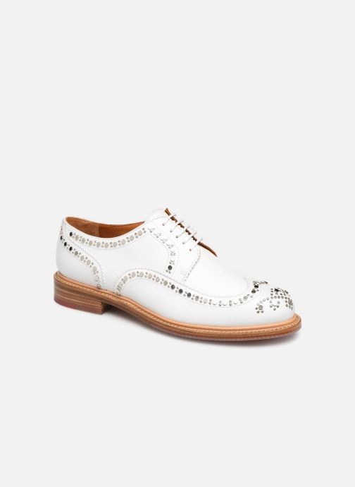 Chaussures à lacets Clergerie Rocker Blanc vue détail/paire