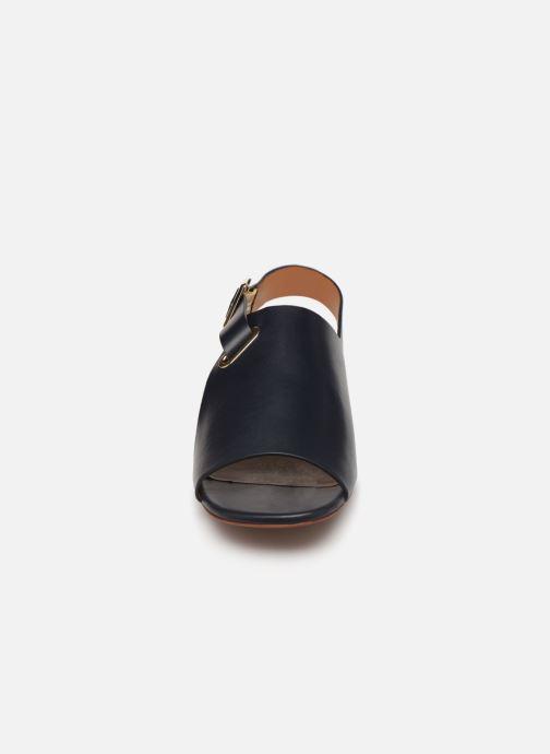 Sandales et nu-pieds Clergerie Ada Bleu vue portées chaussures