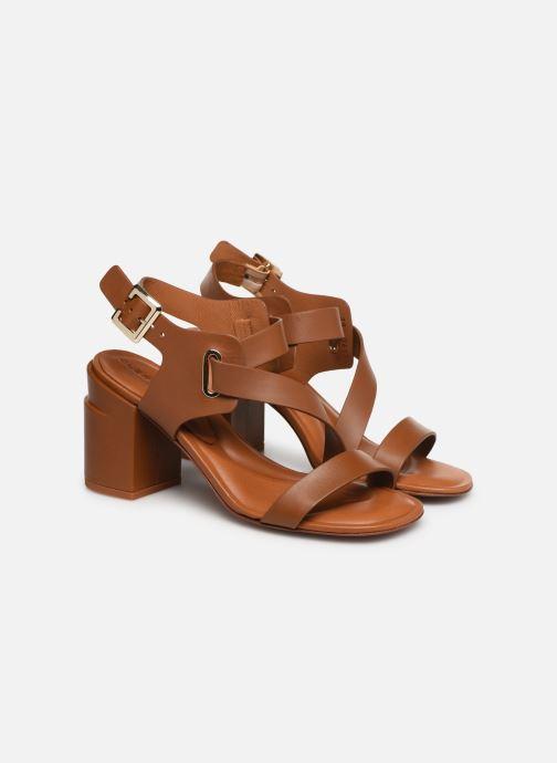 Sandales et nu-pieds Clergerie Alba Marron vue 3/4