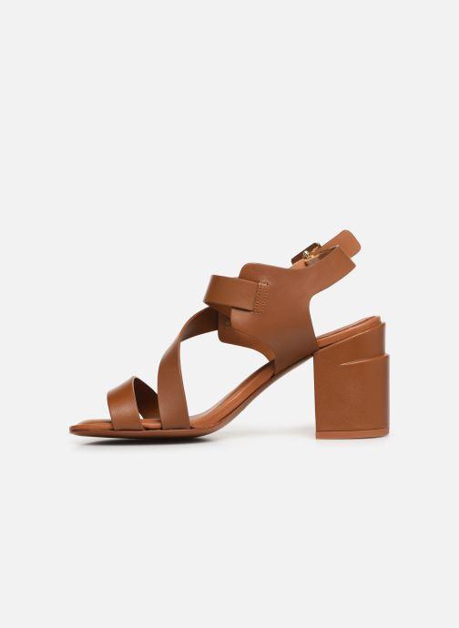 Sandales et nu-pieds Clergerie Alba Marron vue face