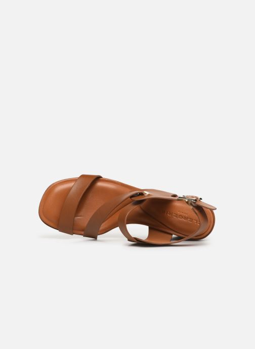 Sandales et nu-pieds Clergerie Alba Marron vue gauche