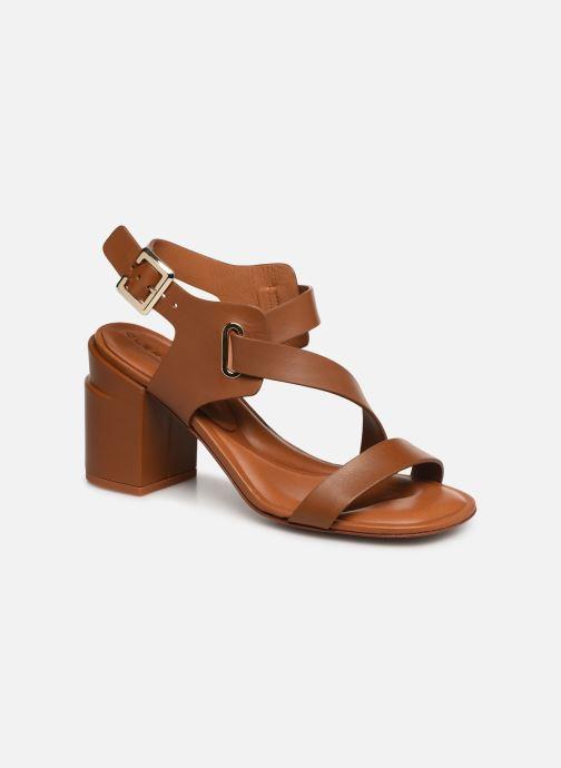 Sandales et nu-pieds Clergerie Alba Marron vue détail/paire