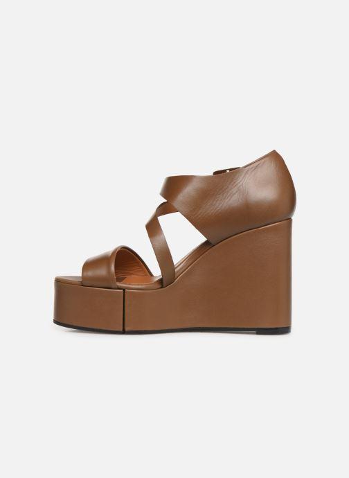Sandales et nu-pieds Clergerie Amuse Marron vue face