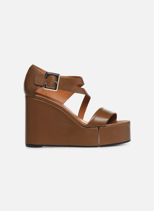 Sandales et nu-pieds Clergerie Amuse Marron vue derrière