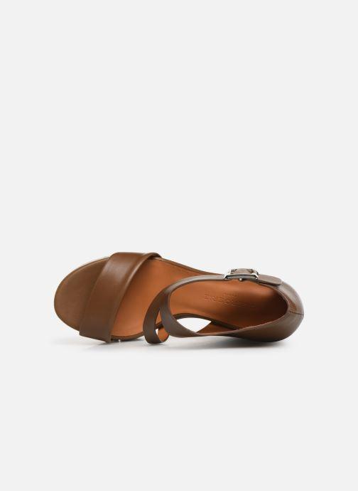 Sandales et nu-pieds Clergerie Amuse Marron vue gauche