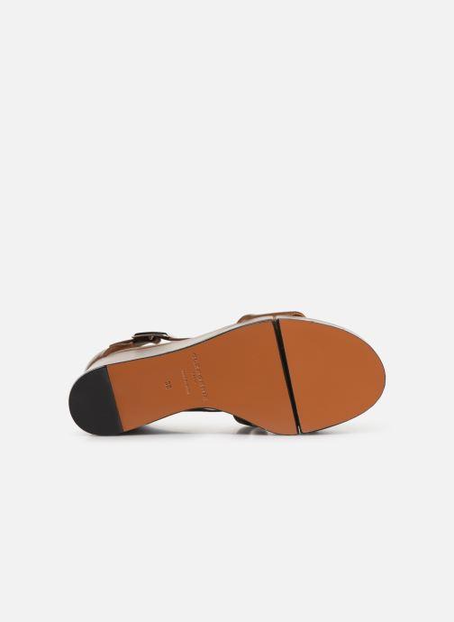 Sandales et nu-pieds Clergerie Amuse Marron vue haut