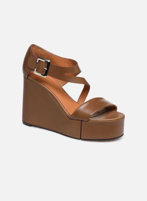 Sandales et nu-pieds Clergerie Amuse Marron vue détail/paire
