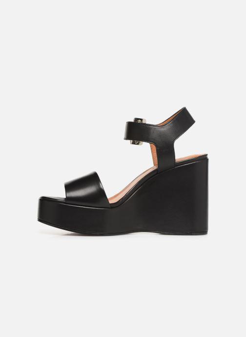 Sandales et nu-pieds Clergerie Altesse Noir vue face