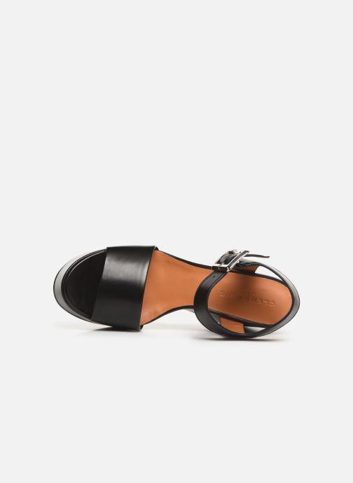 Sandales et nu-pieds Clergerie Altesse Noir vue gauche