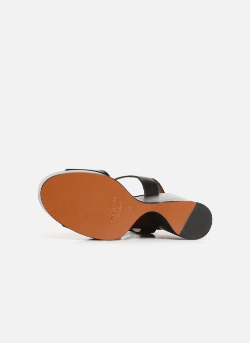 Sandales et nu-pieds Clergerie Altesse Noir vue haut