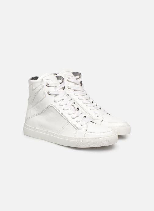 Baskets Zadig & Voltaire ZV1747 High Fla Blanc vue 3/4