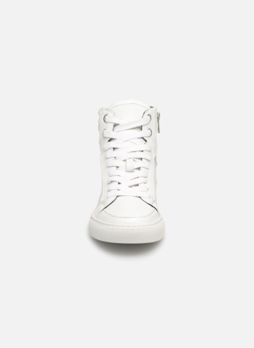 Baskets Zadig & Voltaire ZV1747 High Fla Blanc vue portées chaussures