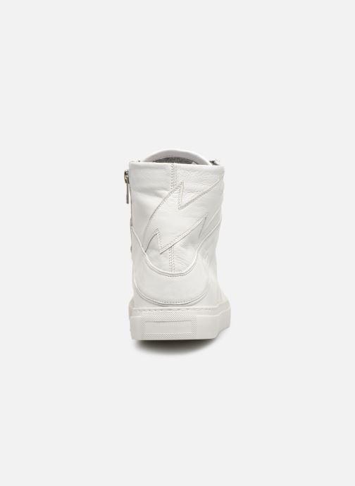 Sneakers Zadig & Voltaire ZV1747 High Fla Wit rechts