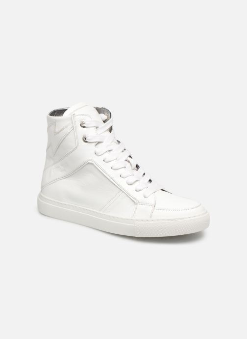 Baskets Zadig & Voltaire ZV1747 High Fla Blanc vue détail/paire