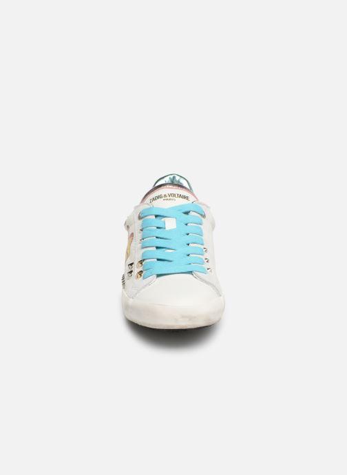 Baskets Zadig & Voltaire Zadig Rainbow Blanc vue portées chaussures
