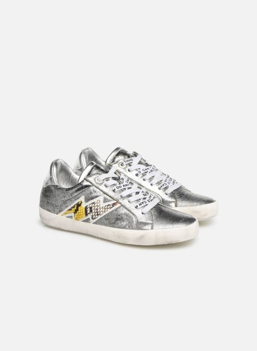 Baskets Zadig & Voltaire Zadig Flash Ace Argent vue 3/4