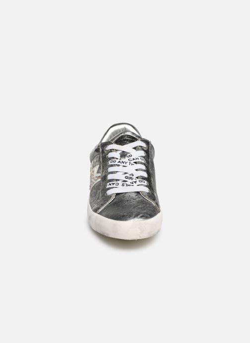 Sneakers Zadig & Voltaire Zadig Flash Ace Argento modello indossato