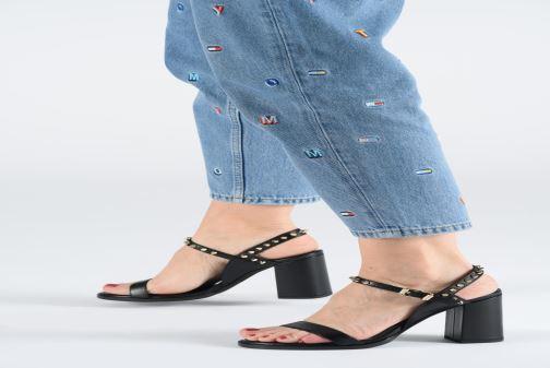 Sandales et nu-pieds Zadig & Voltaire Vogue Noir vue bas / vue portée sac