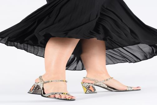 Sandales et nu-pieds Zadig & Voltaire Vogue Wild Multicolore vue bas / vue portée sac