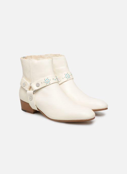 Bottines et boots Zadig & Voltaire Sonlux Crush Blanc vue 3/4