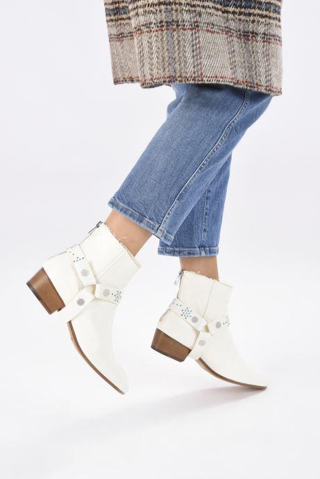 Bottines et boots Zadig & Voltaire Sonlux Crush Blanc vue bas / vue portée sac
