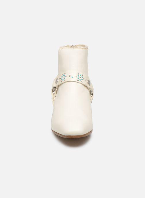 Bottines et boots Zadig & Voltaire Sonlux Crush Blanc vue portées chaussures