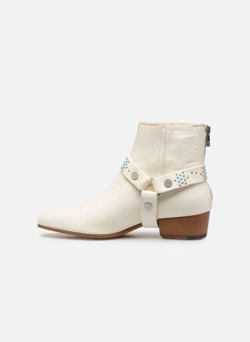 Bottines et boots Zadig & Voltaire Sonlux Crush Blanc vue face