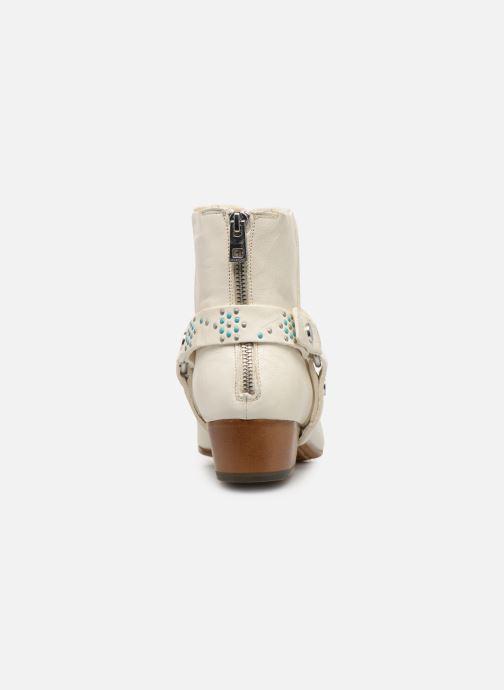 Bottines et boots Zadig & Voltaire Sonlux Crush Blanc vue droite