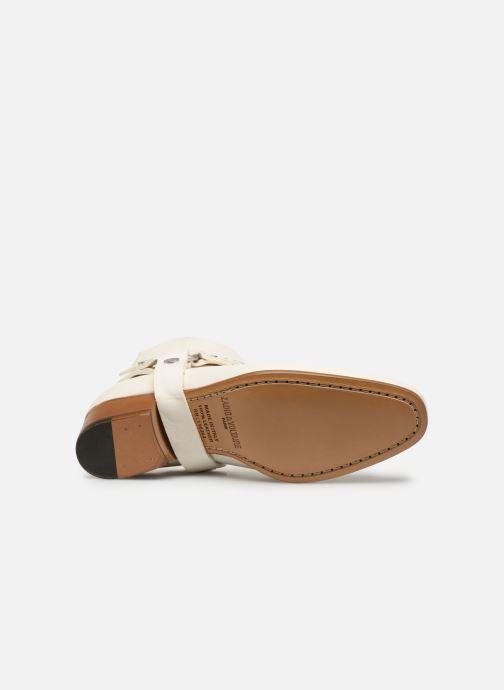 Bottines et boots Zadig & Voltaire Sonlux Crush Blanc vue haut