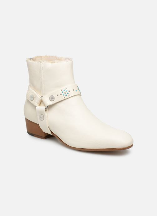 Bottines et boots Zadig & Voltaire Sonlux Crush Blanc vue détail/paire