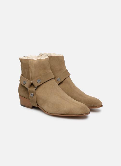 Bottines et boots Zadig & Voltaire Sonlux Suede Marron vue 3/4