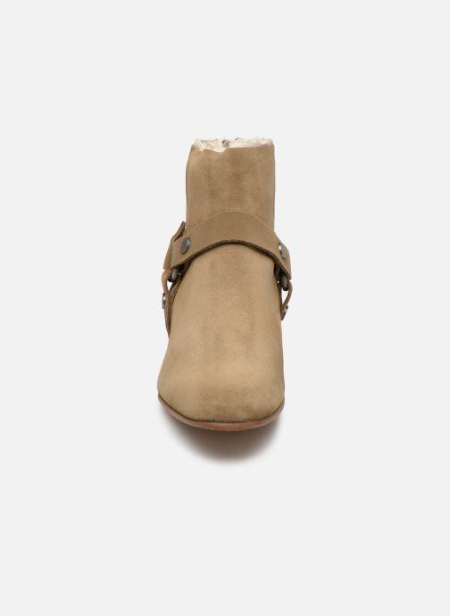 Bottines et boots Zadig & Voltaire Sonlux Suede Marron vue portées chaussures