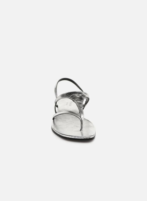Sandales et nu-pieds Zadig & Voltaire Dillon Argent vue portées chaussures